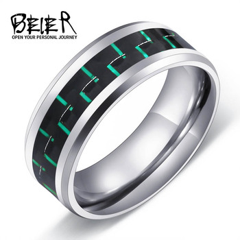 316L Stainless Fashion Man's Ring Titanium Steel Unique 2017 Trendy Jewelry For Men Wedding Band