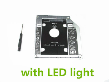 SATA HDD 2ND SDD Süper HARD DİSK caddy Apple MacBook Pro Unibody Için LED ile