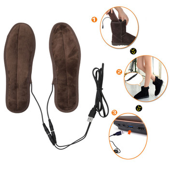 USB Heated Insoles Rechargeable Electric Battery Warmer Shoes Heater Quality Winter Keep Warm Electrically Thermal Insole